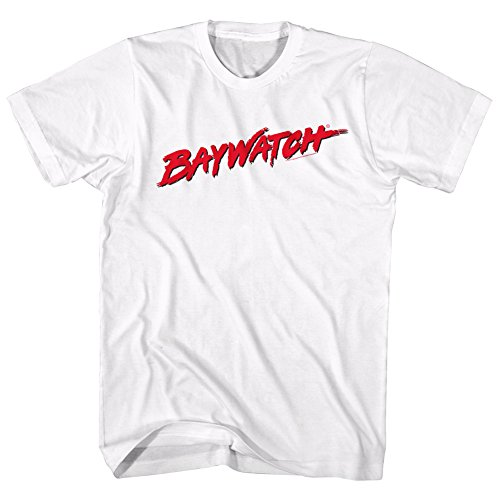 American Classics Baywatch Tv Logo Adult Short Sleeve T Shirt XXL White]()