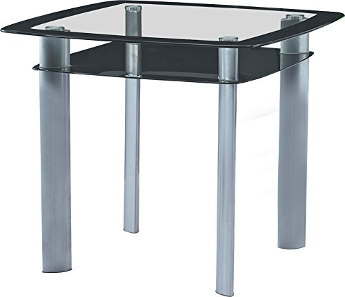 Best Quality Furniture D251T Modern Black and Grey Glass Counter Height Dining Table Only