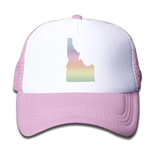 (WCMBY Personality Caps Hats State of Idaho Big Foam Child Baby Kid Mesh Caps Adjustable Trucker Hats Summer Snapback)