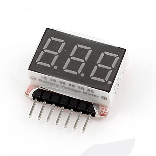 3-Digit LED Display High Precision Voltage Meter for 1-6S Lipo Battery