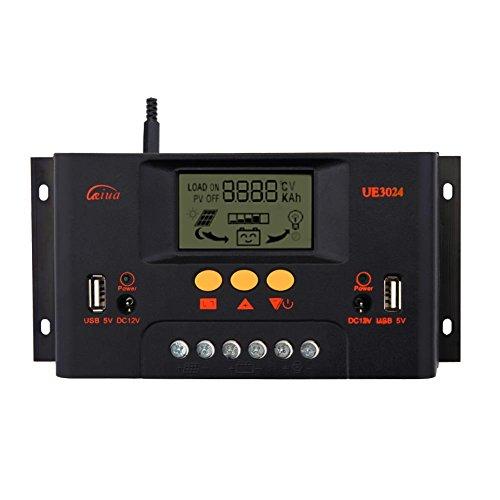 Sun YOBA 30A 12V 24V LCD Solar Charge Controller Solar Controller Solar Regulator by Sun YOBA