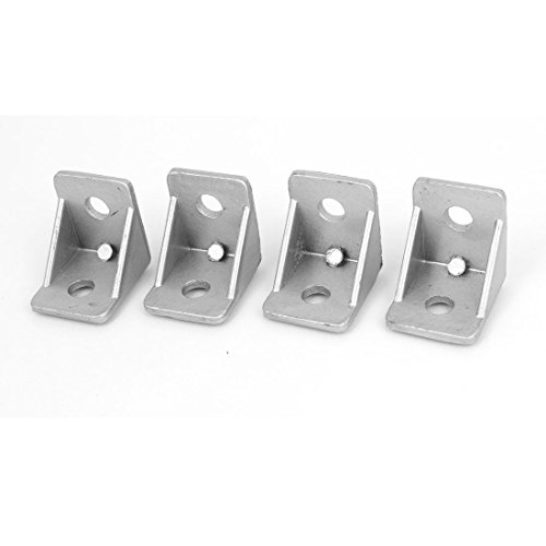 Price comparison product image uxcell® 4 Pcs 30mmx30mm Corner Brace Joint Right Angle Bracket Support