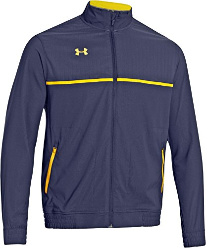 Under Armour Win It Woven Jacket, Navy/Gold, 3X-LARGE