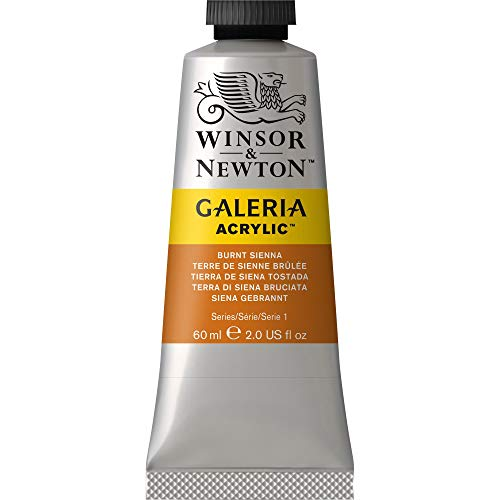 Winsor & Newton Galeria Acrylic Paint, 60ml Tube, Burnt Sienna