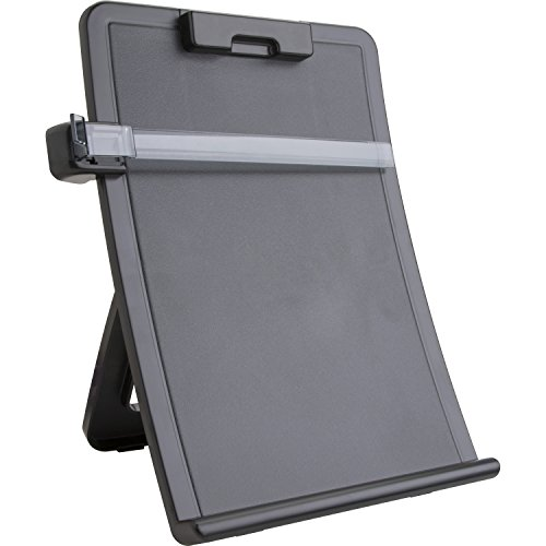 Sparco Easel Document Holders, Adjustable, 10 x 2-1/2 x 14-3/8 Inches, Black (SPR38951) (Document Adjustable Holder)