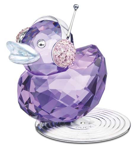 S1054592: Swarovski Crystal Figurine, Duck J, New 2010 Crystal Duck Figurine