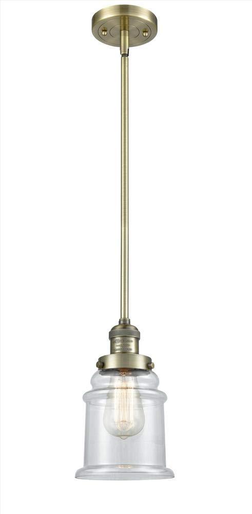 Innovations 201S-SN-G181-LED 1 Light Vintage Dimmable LED Mini Pendant Brushed Satin Nickel