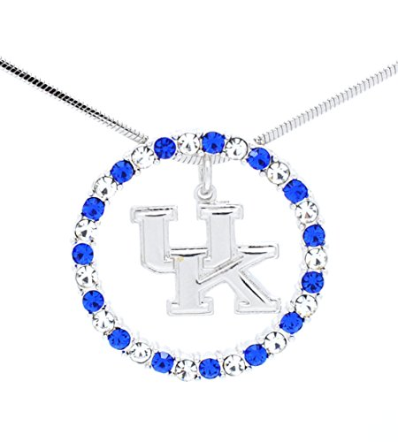 CIRCLE OF LIFE NECKLACE - ETERNITY CIRCLE NECKLACE - CRYSTAL - KENTUCKY WILDCATS