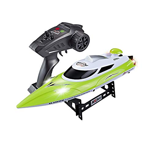 High-Speed RC Racing Boat 35KM/H Advanced 2.4GHz Pools Lakes and Outdoor Remote Control Boat for Adults & Kids,Color Green ()