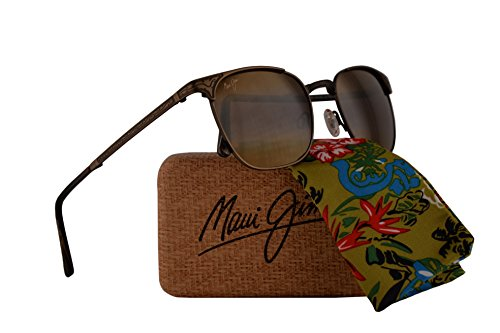 Maui Jim Stillwater Folding Sunglasses Antique Gold w/Polarized Bronze Lens - Jim Maui Koki Beach