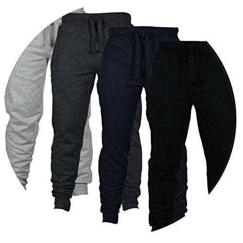 Summer-lavender Men's Fitness Pants Men's Pure Color Brushed Pants Sports Trousers,Light Grey,XXL (European Code) (2 Sims Jeans)
