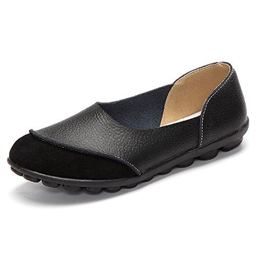 amp;G De Pisos Flats NGRDX black Comodidad Mocasines Zapatos Casual Señoras Mujer Suave Femenino Plana Básica Y Mujeres Sólida pxqddwaI