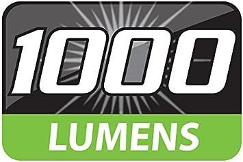 9 Pro-Focus 1000 Lumen COB LED Heavy Duty Black Flashlight with Tactical Design ATAK Model 541