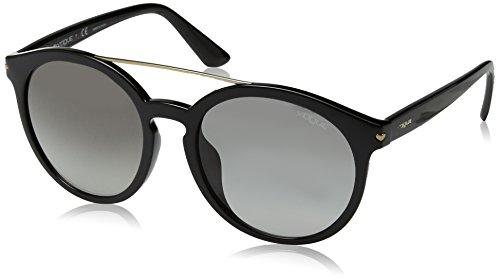VOGUE Women's Injected Woman Round Sunglasses, Black, 55 - Brand Sunglasses Vogue
