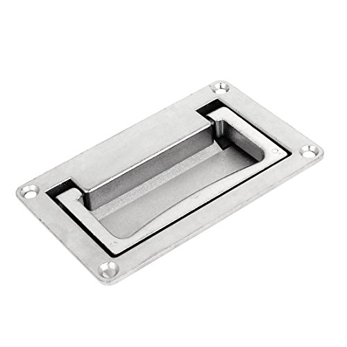 uxcell Cabinet 110mm x 70mm Rectangular Grip Recessed Flush Pull Handle