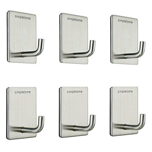 simpletome Self Adhesive Hooks 3M VHB Sticker SUS304 Stainless Steel Waterproof High Temperature Resistance (6)