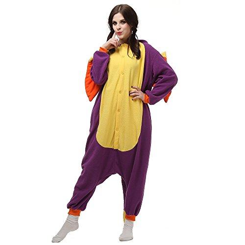 Unisex Intera Cosplay LTY12 Pigiama Tuta Anime Adulti bambini Animale Costume viola Flanella 8BISx