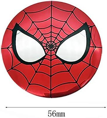 Farbname : Deadpool Csfssd 56 mm miracle Avengers 3D car tires steering wheel center hub cap badge logo sticker decals symbol Car styling