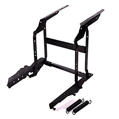 Lift up Top Coffee Table DIY Hardware Fitting Furniture Mechanism Hinge Spring Top Mount or Bottom Support With Mounting Screws (Black)