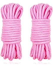 Soft Rope Cord, 2Pcs 10 M/33 Feet 8 MM All Purpose Cotton Rope Craft Rope Thick Cotton Rope (Pink)
