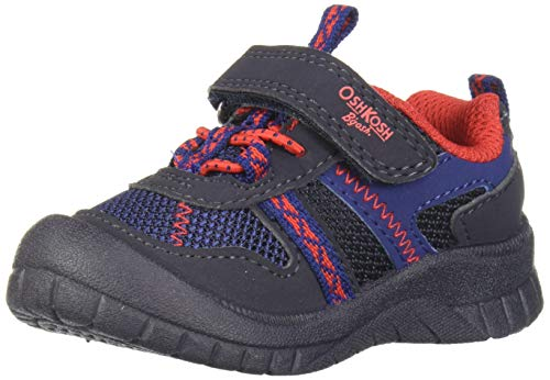 OshKosh B'Gosh Boys' GARCI Sneaker, Navy/red, 8 M US Toddler (Shoes Oshkosh Toddler Boys)