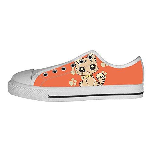 Del Sopra Di Delle Gatto Scarpe I Lacci Ginnastica Men's Tela Le Fumetto Custom Da In Canvas Shoes Alto 5H1p7dxw