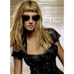 PRINT AD With Gisele Bundchen In Black Dress For 2009 Dior - Bundchen Sunglasses Gisele