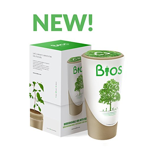Bios Urn - OFFICIAL Biodegradable Urn Designed to Grow a Tree From Ashes. Grow a living tree from cremated ashes using our unique patented Bios Urn. Compatible with any kind of tree! (Biodegradable Urns For Ashes With Tree Seed)