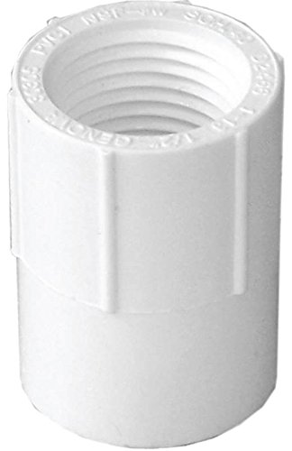 (Genova Products 30305CP 1/2-Inch Female Iron Pipe Thread PVC Pipe Adapter Slip by Female Iron Pipe Thread - 10 Pack)
