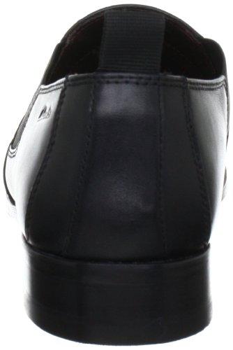 Clarks Hardies Life 203507457 - Zapatos de cordones de cuero para hombre Negro