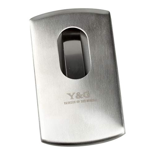 Y&G YDA01B01 Silver Personal Card Case Contemporary Stainless Steel Card Case With Gift Box