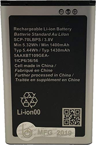 (New SCP-70LBPS 1430 mAh Replacement Battery for Kyocera Cadence 4G LTE S2720 Verizon Flip Phone)