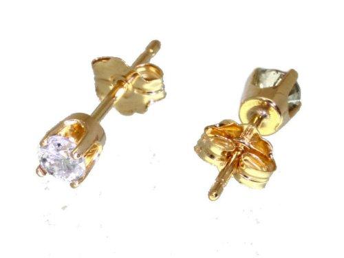 0,25 Carats-Diamant-Boucles d'oreilles en or jaune 14 Carats