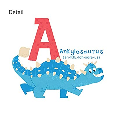 DECOWALL DS-8033 A-Z Dinosaur Alphabet Kids Wall Stickers Wall Decals Peel and Stick Removable Wall Stickers for Kids Nursery Bedroom Living Room (Small): Home & Kitchen