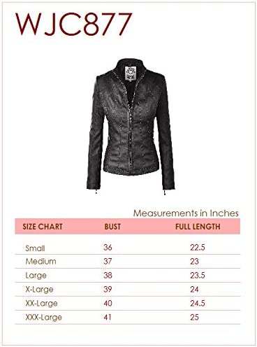 Made By Johnny MBJ WJC877 Womens Panelled Faux Leather Moto Jacket S Camel