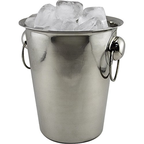 Stainless Steel Table Top Wine or Champagne Bucket - 4 Quarts