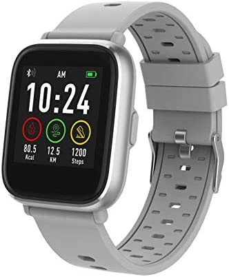 Denver Bluetooth-Smartwatch mit Herzfrequenzsensor Grau SW-161