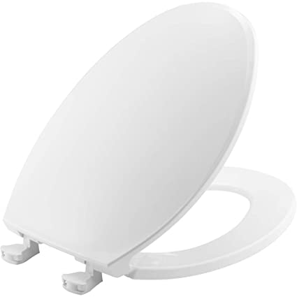 Incredible Church 130Ec 000 Toilet Seat With Easy Clean Change Hinges Elongated Plastic White Theyellowbook Wood Chair Design Ideas Theyellowbookinfo