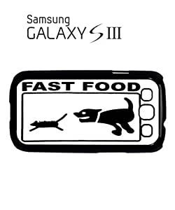 Fast Food Cat and Dog Mobile Cell Phone Case Samsung Galaxy S3 Black