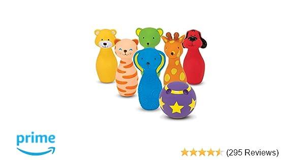 d391c8c951d2db Amazon.com  Melissa   Doug Bowling Friends Preschool Play Set