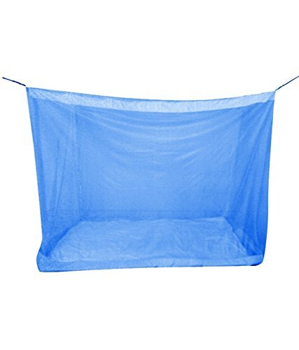 Gupta Handloom Works Luxor Quality Mosquito Net for Single Bed (Blue, 4x6ft) product image