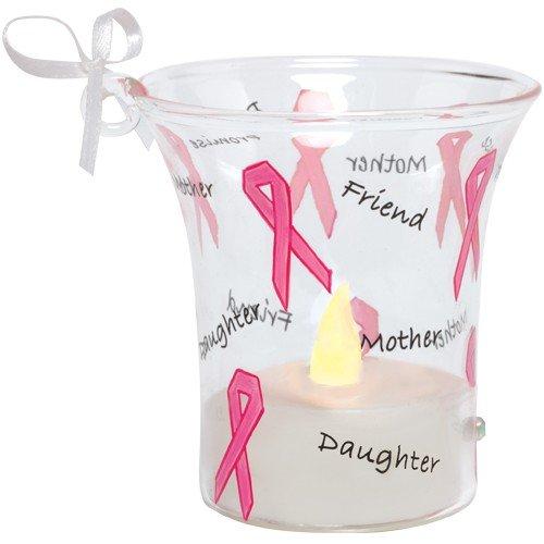 Santa Barbara Design Studio Lolita Holiday Mini Candle LED Ornament, Pink ()