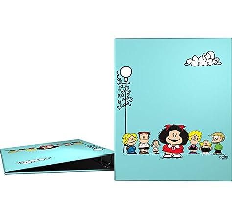 Grafoplás 88141947-Carpeta 4 anillas A4 Diseño Mafalda Amigos, 4 anillas de 25mm: Amazon.es: Oficina y papelería