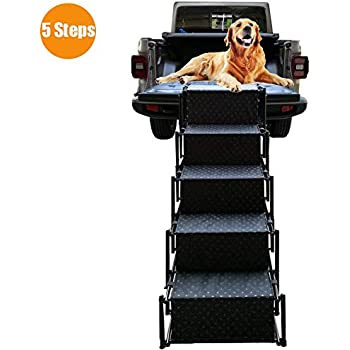Amazon.com : Pet Dog Car Step Stairs, Accordion Folding