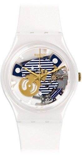 Swatch Unisex GW169 Originals Analog Display Swiss Quartz White Watch