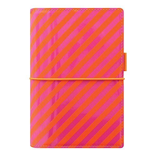 Pink Pen Filofax (Filofax 2019 Personal Domino Organizer, Patent Orange/Pink Stripes, 6.75 x 3.75 inches (C022575-19))