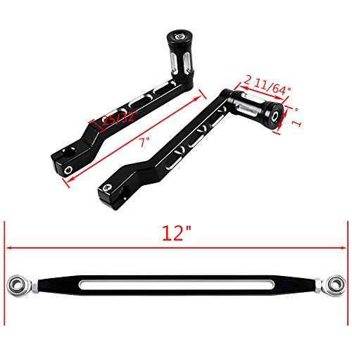 Set Heel Toe Gear Shift Lever Shifter Peg + Shift Linkage Fit Harley Road King Electra Street Tour Tri Glide FL Softail by Astra Depot (Image #2)