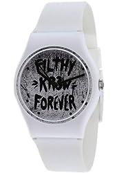 Kr3w Women's White & Black Dial White Alloy
