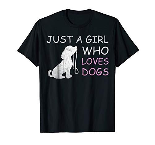 Lover Dog Shirt (Dog Lover T-shirt Gift Just a Girl Who Loves Dogs Women Kids)