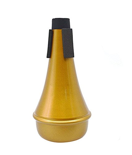 Timiy Durable Lightweight Aluminum Practice Trumpet Straight Mute Silencer (Gold) by Timiy